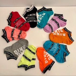 10 Pairs Of PINK Victoria Secret Socks